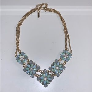 Light Blue & Turquoise Statement Necklace